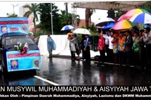 Pawai ta'aruf pembukaan musywil muhammadiyah dan aisyiyah di Kudus JawaTengah