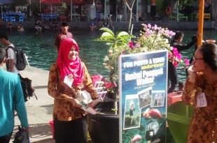 Peserta Jambore Pokdarwis Jawa Tengah sedang melakukan observasi di Umbul Ponggok