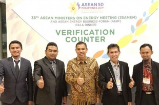 Afrizal bersama tim ACE (Asian Centre for Energy)f